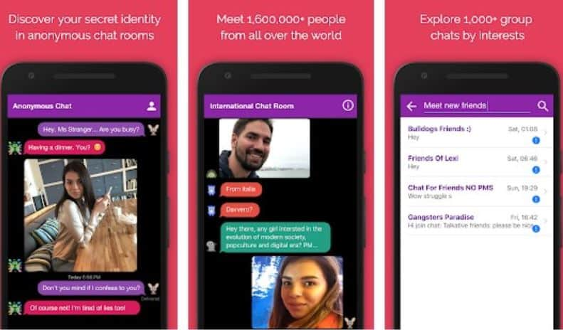 Anonymous video chat app for android