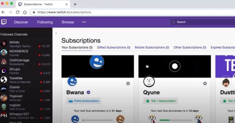 What are Subscriptions on Twitch