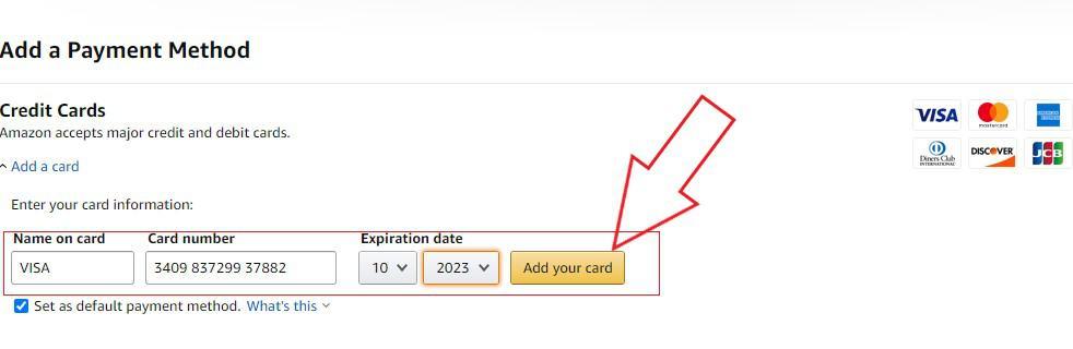 amazon prime payment method