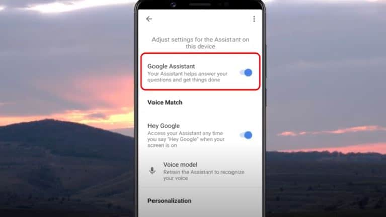 remove google assistant android
