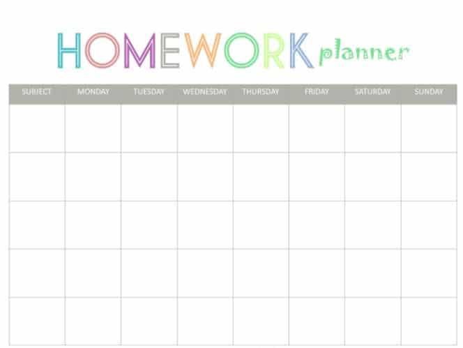 Schedule Homework Planner