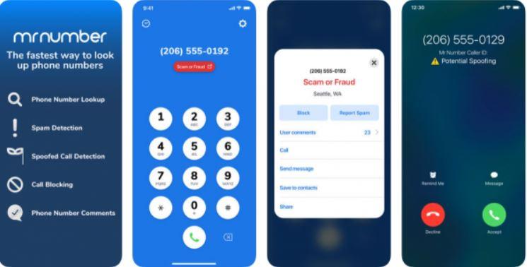 MrNumber reverse phone number lookup app