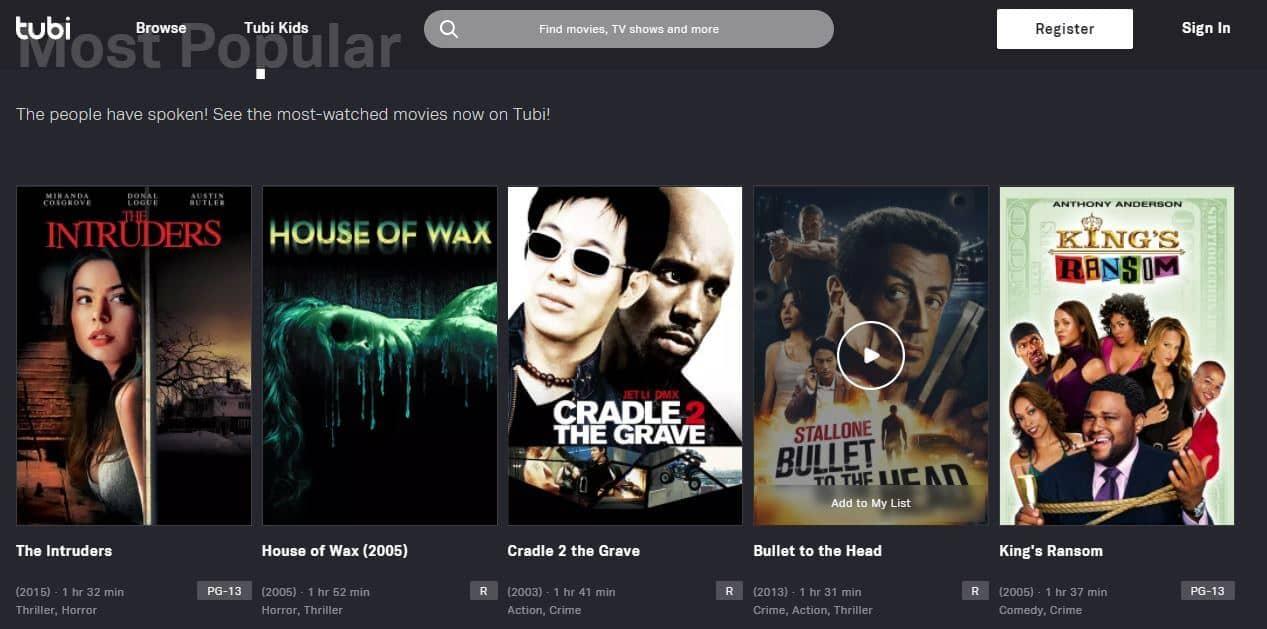 Tubi free streaming app