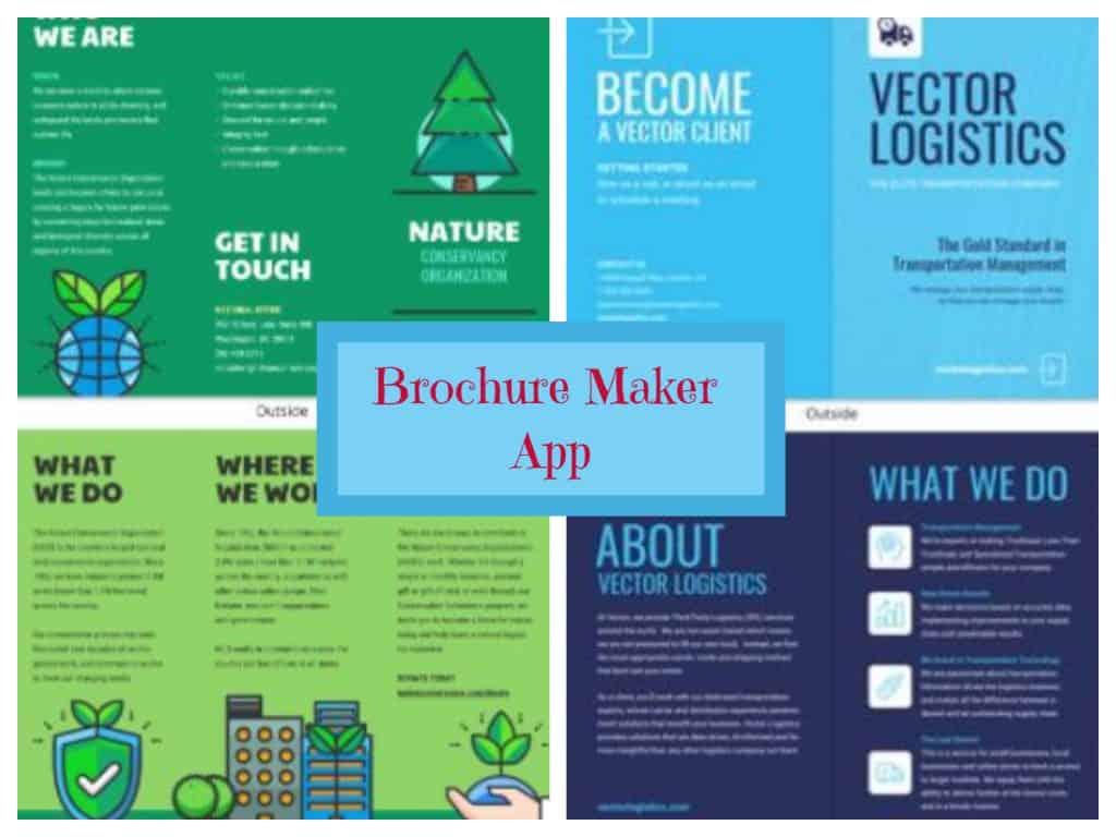 brochure maker - pamphlet infographic catalog